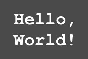 Hello world - Witaj Świecie