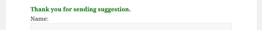 Potwierdzenie wysłania formularza suggestion box